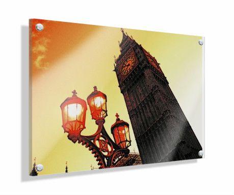 tableau en plexiglas 40 x 30 cm cr puscule sur big ben. Black Bedroom Furniture Sets. Home Design Ideas
